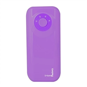 Urban Factory Power Bank Emergency 4400 mAh Purple - Power bank - 4400 mAh - 1.5 A (USB) - on cable: Micro-USB - purple