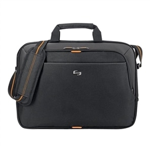 SOLO Urban Slim Brief - Laptop carrying backpack - 15.6-inch - Black/Orange