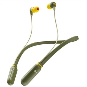 Skullcandy Ink'D+ Wireless - Earphones with mic - in-ear - neckband - Bluetooth - wireless - olive