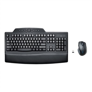Kensington Pro Fit Wireless Comfort Desktop Set - Keyboard and mouse set - wireless - US - black