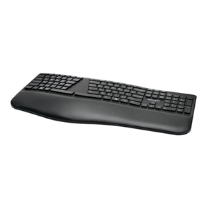 Kensington Pro Fit Ergo Wireless Keyboard - Keyboard - wireless - 2.4 GHz, Bluetooth 4.0 - US - black