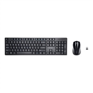 Kensington Pro Fit Low-Profile Desktop Set - Keyboard and mouse set - wireless - 2.4 GHz - US