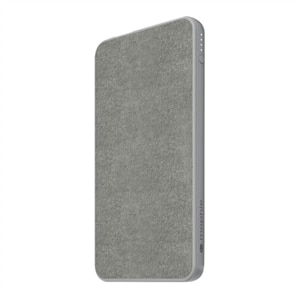 mophie powerstation mini (fabric) - Power bank - 5000 mAh - 3 output connectors (2 x USB, USB-C) - gray