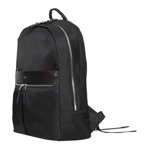 Knomo Beaufort - Laptop carrying backpack - 15.6-inch - black, silver hardware