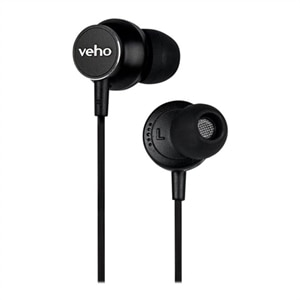Veho Z-3 - Earphones with mic - in-ear - wired - 3.5 mm jack - black