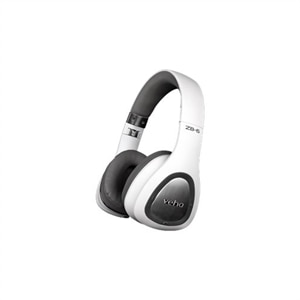 Veho ZB-6 - Headphones with mic - on-ear - Bluetooth - wireless - noise isolating - white