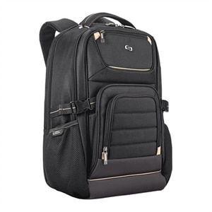 SOLO Pro Backpack - Laptop carrying backpack - 17.3-inch - black, gold