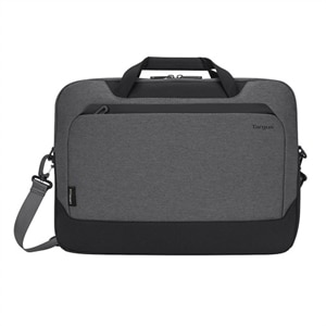 Targus Cypress Briefcase with EcoSmart - Laptop carrying case - 15.6-inch - light gray