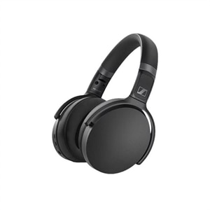 Sennheiser HD 450BT - Headphones with mic - full size - Bluetooth - wireless - active noise canceling - black