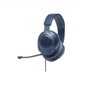 JBL Quantum 100 - Headset - full size - wired - 3.5 mm jack - blue