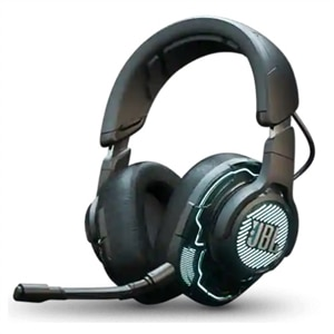 JBL Quantum One - Headset - full size - wired - active noise canceling - USB, 3.5 mm jack, USB-C - black