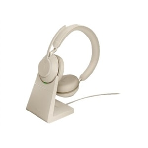 Jabra Evolve2 65 Usb C Uc Stereo With Charging Stand Beige Dell Usa