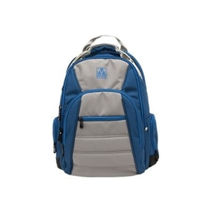 M-Edge Cargo Backpack with Battery - Laptop carrying backpack - 17-inch - blue, silver