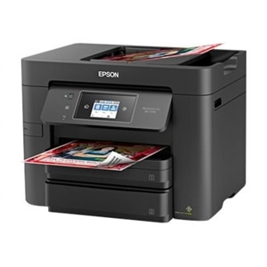 Epson WorkForce Pro WF-3730 - Multifunction printer - color - ink-jet - Legal (8.5 in x 14 in) (original) - A4/Legal (media) - up to 17 ppm (copying) - up to 20 ppm (printing) - 500 sheets - 33.6 Kbps - USB 2.0, LAN, Wi-Fi(n), USB host, NFC