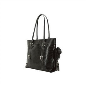 "Mobile Edge 15.6"" to 16"" Signature Notebook Tote - Notebook carrying case - 15.6"" - 16"" - faux crocodile Black"