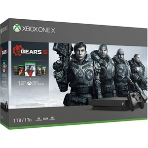 Microsoft Xbox One X - Gears 5 Bundle - game console - 4K - HDR - 1 TB HDD - black