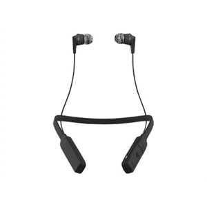Skullcandy INK'D WIRELESS - Earphones with mic - in-ear - Bluetooth - wireless - noise isolating - gray, black