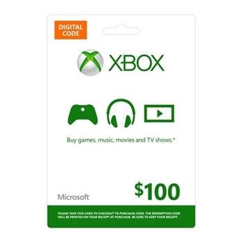 $100 Microsoft XBOX Live Digital Gift Card